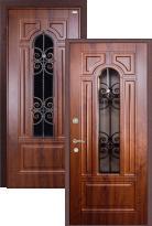 Входная дверь Легран Волкодав со стеклопакетом и ковкой (стальная дверь, металлическая дверь)