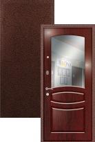 Входная дверь Легран МДФ + Шпон с зеркалом Валенсия