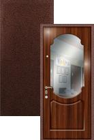 Входная дверь Легран МДФ + Шпон с зеркалом Классика
