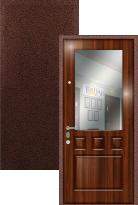 Входная дверь Легран МДФ + Шпон с зеркалом Греция